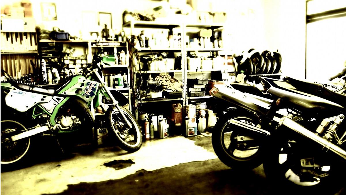 バイクショップの画像