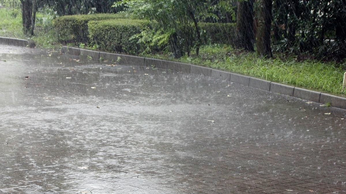 バイクと雨
