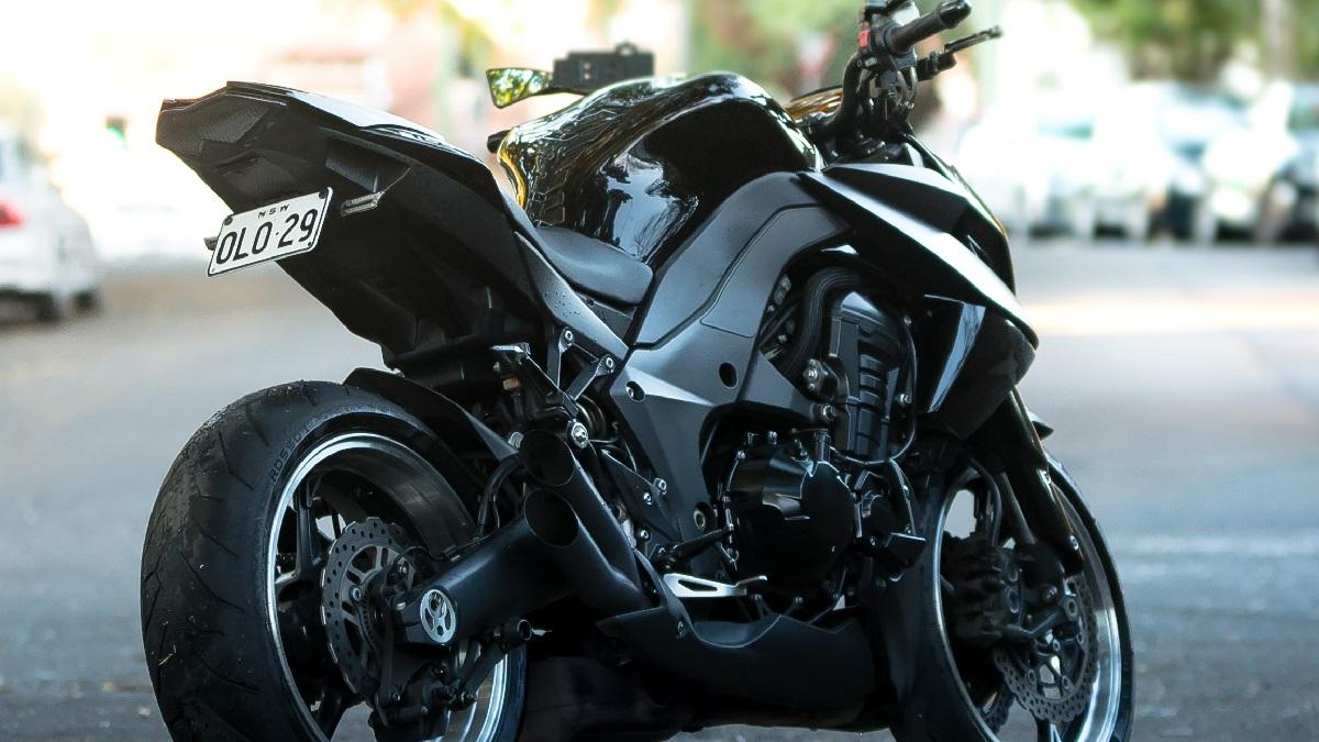 バイクのナンバープレートの違反事例