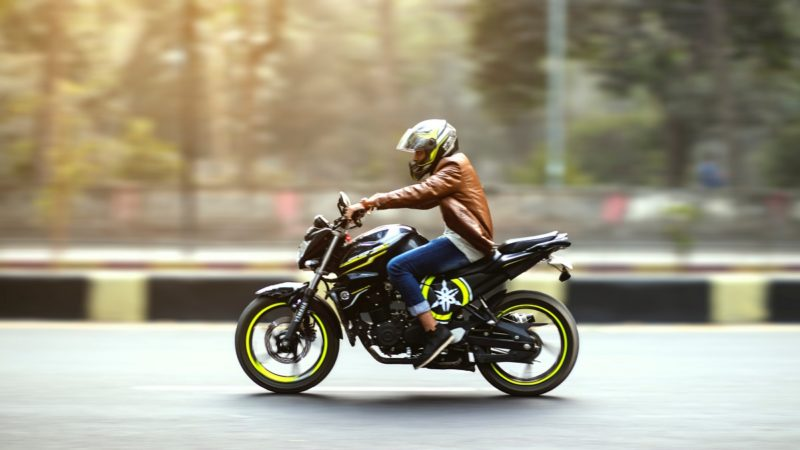 バイクは走っていると充電される