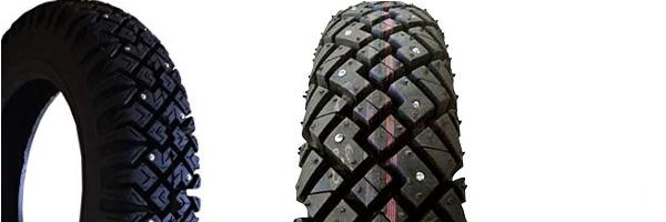 バイク用のスパイクタイヤ