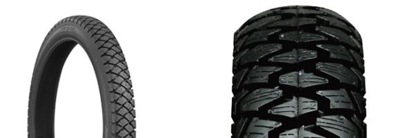 バイク用のスタッドレスタイヤ(スノータイヤ)