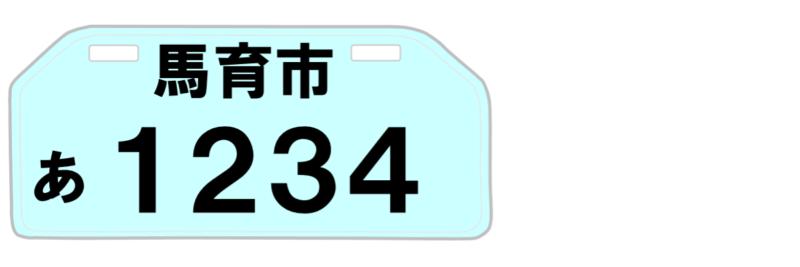 ミニカー登録は水色ナンバー