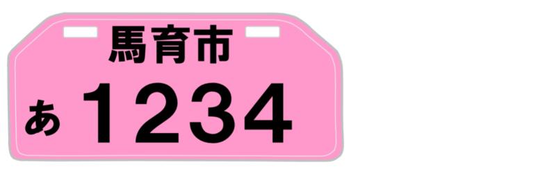90cc超~125㏄の原付2種はピンクナンバー